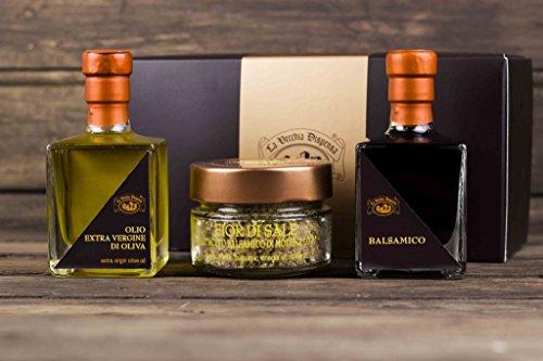 Geschenkset: Balsamico Essig, Olivenöl & Balsamicosalz