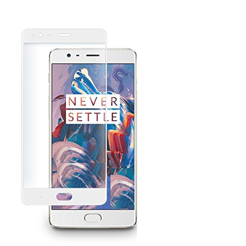 MoArmouz® Tempered Glass Screen Guard Protector For ONEPLUS 3, 3D FULLCOVER - Mobile Accessories / Screen Protectors (White)