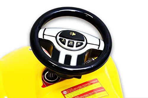 Best For Kids C4932Y Top Rutscher Auto Autorutscher mit ELEKTRONIK Porsche Rutscherfahrzeug - Gelb - 4
