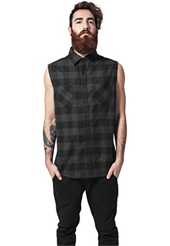 Sleeveless Checked Flanell Shirt blk/cha S - Checked Flanell Hose