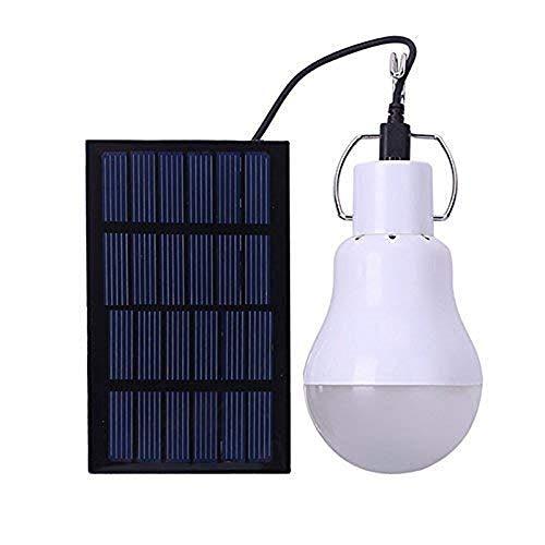 Lampe Tragbar LED licht 130LM 5V wiederaufladbare Glühbirne Solar Beleuchtung [Energieklasse A++] (Mikro Angeln Haken)