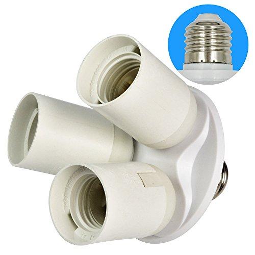 MENGS® 3 in 1 E27 auf E27 LED Lampenfassung Konverter-Adapter mit hitzebeständigem PBT Material für Fotostudio