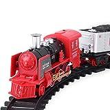 Dilwe Elektrische Eisenbahn, Wiederaufladbar RC Lokomotive Zug Dampf-Lok mit Lange Eisenbahnstrecke Christmas Train Geschenke Für Kinder(LKW)