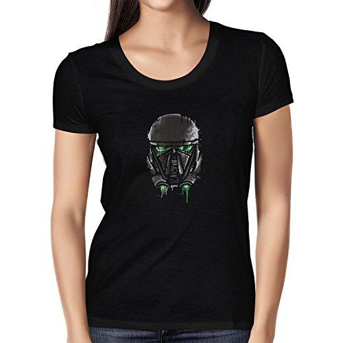 Texlab Empire Pilot Helmet Painting - Damen T-Shirt, Größe L, Schwarz (Empire Pilot Episode)