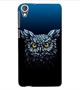 ColourCraft Amazing Owl Design Back Case Cover for HTC DESIRE 820