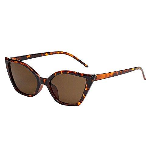 Makefortune Frauen Sonnenbrillen, Frauen-Weinlese-Katzenaugen-Sonnenbrille-Retro- kleiner Rahmen UV400 Eyewear arbeiten Damen-Gläser um (F1)