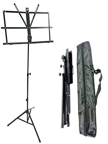 TriEcoWorld hoja de música de alta calidad soporte plegable soporte de metal con bolsa de transporte