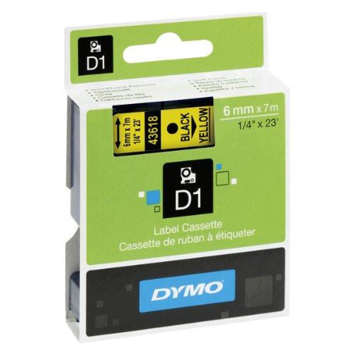 Dymo-S0720770-D1-Etiketten-Selbstklebend-fr-den-Drucker-LabelManager-6-mm-x-7-m-Rolle-schwarz-auf-transparent