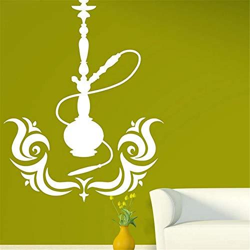 Wandtattoo Schlafzimmer Shisha Shop Aufkleber Mann Aufkleber Shisha Smoking Smoke Arabisch Aufkleber Kunst Wandbild für Shisha Shop