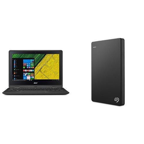 Acer Spin 1 11.6-Inch Convertible Notebook (Intel Celeron N3350 Processor, 4 GB RAM, 32 GB eMMC, Windows 10) + 1TB Seagate Backup Plus Slim External Hard Drive
