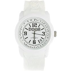 Dooa Time 0R012D Women's Quartz Watch with Calendar, White, One Size