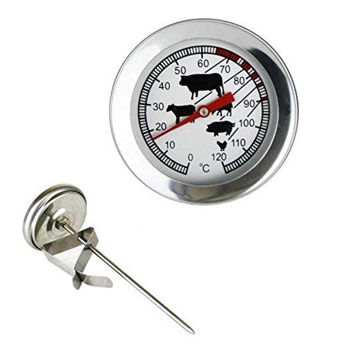 Lantelme 4045 Nucleo in acciaio inox Termometro scalpelli Thermo metri, analogica con Clip, forno termometro indicazione 0A 120 °C con simboli