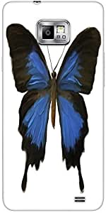 Snoogg Digital Painting Of A Butterfly Protective Case Cover For Samsung Gala...