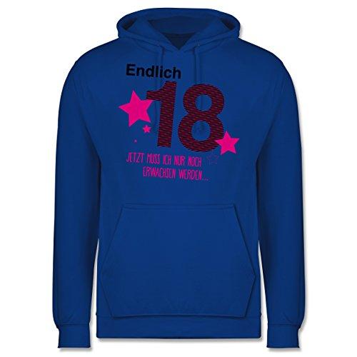 Geburtstag - Endlich 18 - Männer Premium Kapuzenpullover / Hoodie Royalblau