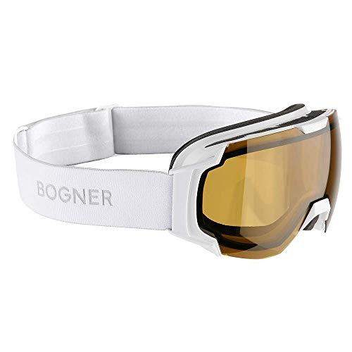 Bogner Snow Goggles Just B Polarized   Weiß   Ski & Snowboard Brille   Hochwertige Qualität
