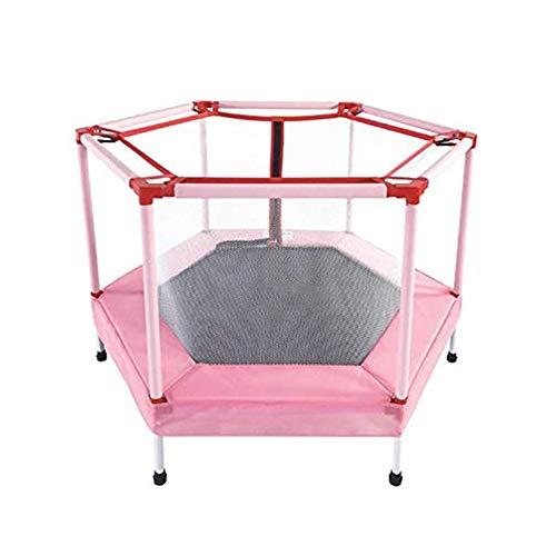 JBFZDS Übung Trampolin - 48-Zoll-Kinderheim Indoor-Trampolin Baby Outdoor Garden Leisure Trampolin Mit Sicherheitsgehäuse Bietet Platz for 1-2 Kinder
