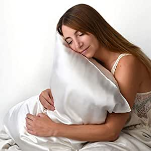 Dormibene Luxury 100% Pure Mulberry Silk Pillow Case - Naturally Hypoallergenic, Prevents Wrinkles, Stops Bed Hair & Stays Cool (Ivory)