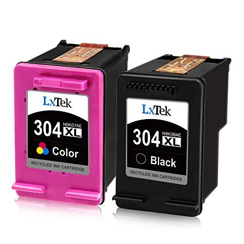 LxTek Remanufactured für HP 304 304XL Tintenpatronen für HP Envy 5010 5020 5030 5032 Deskjet 2620 2622 2630 2632 2633 2634 3720 3730 3733 3735 3750 3760 3762 3764 (1 Schwarz, 1 Farbe)
