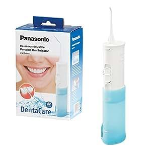 Panasonic EW-DJ10-A503 Idropulsore Orale senza Fili a Scomparsa, Alimentazione a Batterie, Bianco/Azzurro