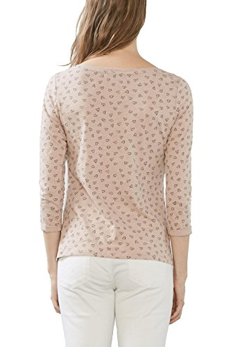 edc by ESPRIT Damen T-Shirt Mehrfarbig (Old Pink 680)