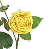 happy event Unechte Blumen | Künstliche Deko Blumen Gefälschte Blumen Blumenstrauß | Seidenrose Für Braut Hochzeitsblumenstrauß für Haus Garten Party Blumenschmuck | Artificial Flowers (Gelb)