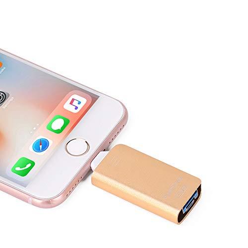 Chiavetta OTG 3 in 1 USB Pen Drive USB 3.0 Memory Stick i-Flash Pendrive per iPhone X / 8 / 8Plus / 7 / 7Plus / 6 / 6Plus / 5 / 5S / iPad/Cellulari Android/PC (64GB, Black)