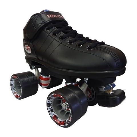 Riedell R3 Black Speed Skates - R3 Black Quad Speed Roller Derby Skate by N/A