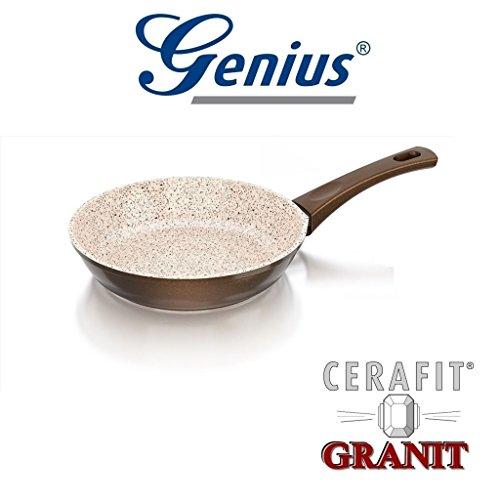 Auswahl von Genius Granit Serie Crepes-Pfanne, Bratpfanne, WOK-Pfanne, Grillpfanne, Bräter, Töpfe (Bratpfanne 20cm)