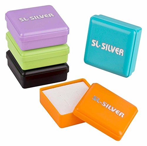 SL-Silver Set Kette Kinder Ohrringe Anhänger Delfin Kristall 925 Silber in Geschenkbox - 2