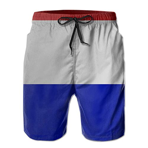 Gorgeous Socks Flag of Costa Rica_994 Men's Shorts Casual Classic Fit Drawstring Summer Beach Shorts Beachwear Summer Holiday Swim Trunks -