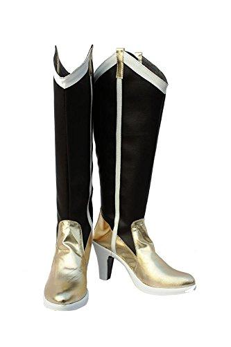 Puella Magi Madoka Magica Tomoe Mami Stiefel Karneval Schuhe Tomoe Mami Cosplay Boots Danmen Schwarz (Kostüm Mami Cosplay)