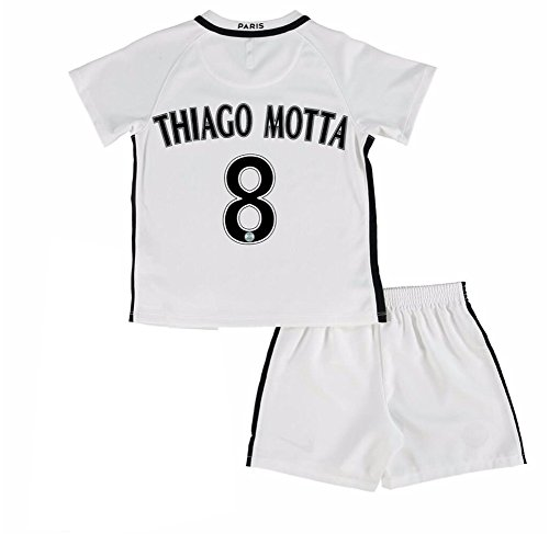 paris-saint-germain-fc-8-thiago-motta-the-third-youth-practice-football-jersey-youth-suit-in-white