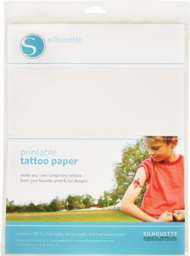 Silhouette inkjet printable temporary tattoo paper