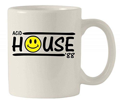 Acid House 88 Ceramic Mug. Heavyweight and high gloss.