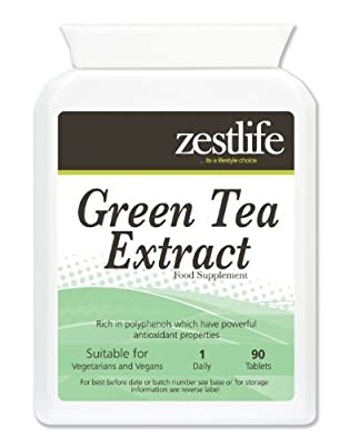 Zestlife Green Tea Extract (1000mg - 90 Tablets) * NEW Product introductory Special Offer* High in Antioxidants; Weight Loss; from Zestlife