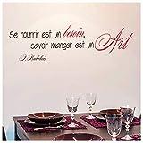Foglio di adesivi 'Savoir Manger Est Un Art. Rabelais'(20x70 cm).