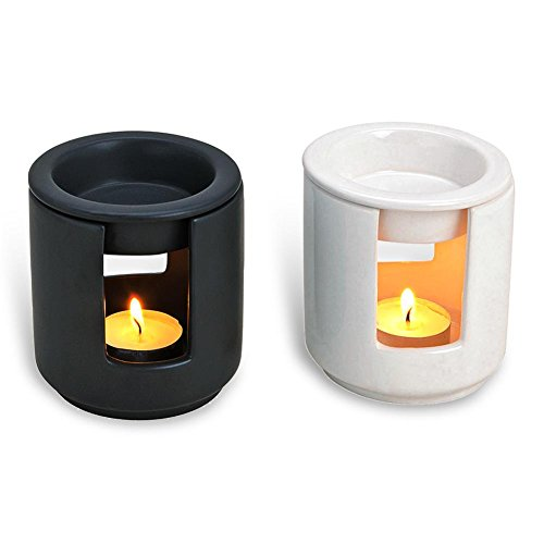 """HC-Handel 934088 Duftlampe """"Kamin"""" aus Keramik 10 x 9 cm weiß oder schwarz"""