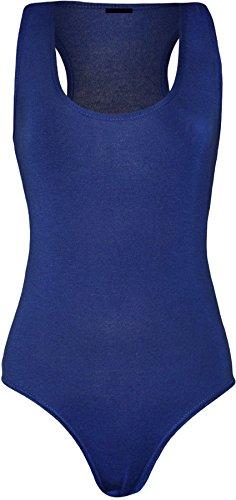 Islander Fashions Canotta - Basic - Senza maniche - donna Royal Blue