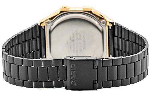 ... Casio Mixte Adulte Analogique-Digital Quartz Montre avec Bracelet en Acier  Inoxydable A168WEGB-1BEF cbd4ef672532