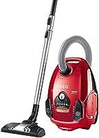 AEG Performer ASP7120 Staubsauger mit Beutel EEK A (700 Watt, inkl. Hartbodendüse, 12 m Aktionsradius, 3,5 l Staubbeutelvolumen, Softräder, waschbarer Hygiene Filter E12) Rot