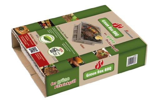 41R%2BnmLxUGL - Landmann Einweggrill Green Box, Mehrfarbig, 24 x 30,5 x 7,5 cm