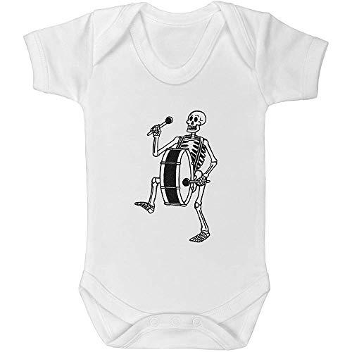 Azeeda 0-3 Monate \'Skelett mit Bassdrum\' Baby Body Unisex