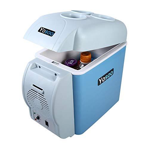 Ejoyous 7,5l Tragbarer Mini Auto Kühlschrank Mini Kühlbox Kühltasche Kühler Elektrische Kühlbox Auto Kühlschrank zum Warmhalten Kühlen für Auto, Boot und Camping, 12 V, 31 * 16,5 * 30 cm