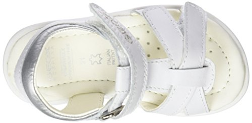 Geox B7221D085NF, Sandali Bimba Bianco (White/Silverc0007)