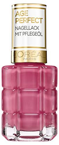 L'Oréal Paris Age Perfect Nagellack mit Pflegeöl in Nr. 224 rose ballet, für glatte und...