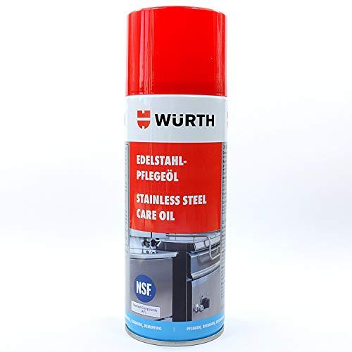 Würth Edelstahl-Pflegeöl Metall-Reiniger Edelstahl-Pflege Öl Spray 08931210