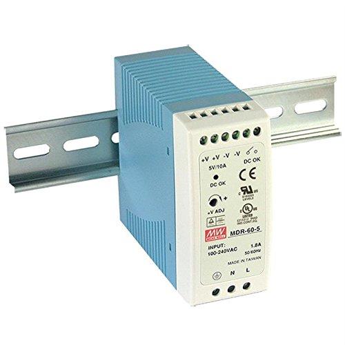 Hutschienen Netzteil 60W 12V 5A ; MeanWell, MDR-60-12 ; Hutschienennetzteil