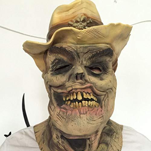 t,Gruselige Mumien Maske Halloween Zombie Vollkopf Latex Maske für Karnevalsparty, Horror Themenbar ()