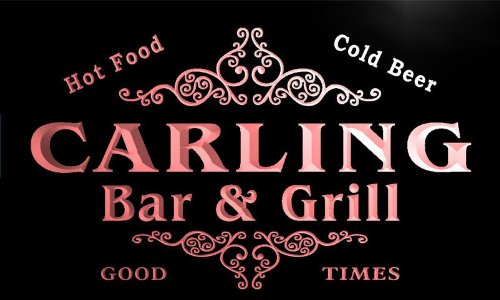 u07034-r-carling-family-name-bar-grill-cold-beer-neon-light-sign-barlicht-neonlicht-lichtwerbung