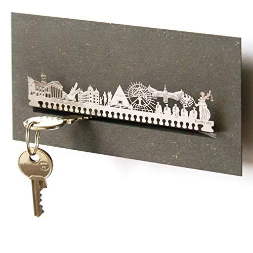 13gramm Karlsruhe-Skyline Schlüsselbrett Souvenir in der Geschenk-Box